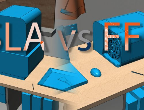 SLA vs FFF / FDM workflow and space requirements