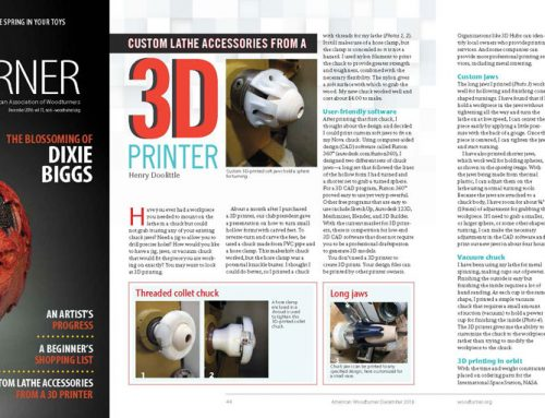 3D printed woodturning chucks and jaws