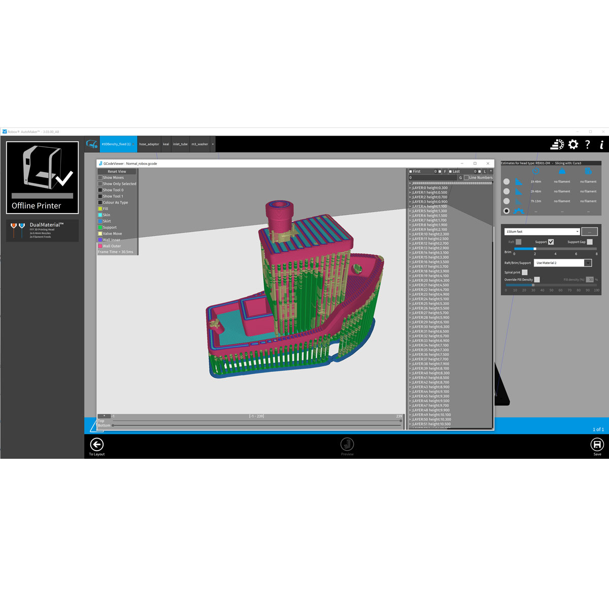 AutoMakerPRO control and slicing software for Robox 3D printers